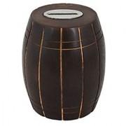 Craft Art India Wooden Barrel Money /Piggy Bank Indian Handcrafted Coin Box