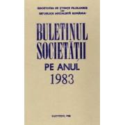 Societatea de Științe Filologice din R.S.R.. Buletinul Societății pe anul 1983