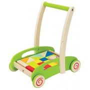 Hape - E0371 - Chariot À Tirer Avec Blocs