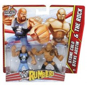 WWE Stone Cold Steve Austin vs The Rock Rumblers Figures