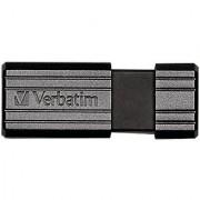 Verbatim PinStripe 128GB USB 2.0 Flash Drive Black 49071