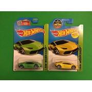 2015 Hot Wheels Hw Workshop (222/250) - Lamborghini Huracan LP 610-4 (Yellow & Green) Set of 2!