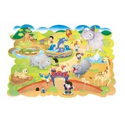 Zoo Animals Floor Puzzle by Chenille Kraft Co