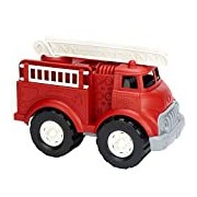 Green Toys Fire Truck with Ladder -Emergency Services Vehicle, Fire Brigade