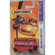 London Bus 2007 Matchbox #56 Double-Decker Bus Collectible Collector 1:64 Scale Die Cast Car by Mattel by Matchbox