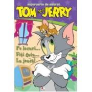 Tom si Jerry - Supercarte de colorat - Pe locuri... fiti gata... La joaca