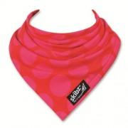 Skibz bandana rood met fuchsia bollen