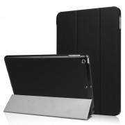 Zwart lederen kunststof Tri-Fold Smartcase hoes voor iPad (2017)