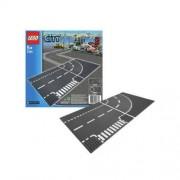 Lego City Skrzyżowanie- T i zakręt plansza 7281