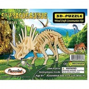Puzzled Little Styracosaurus 3D Natural Wood Puzzle (36 Piece)