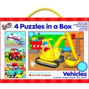 """Galt America 54659 - 4 puzzle in scatola """"Veicoli"""""""