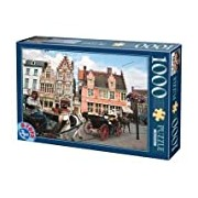 D-Toys Gent Belgium Landscapes Horse and Carriage Jigsaw Puzzle (1000 Pieces)