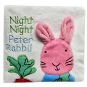 Malloom Perro animal mono conejo Puzzle libro bebé juguete tela desarrollo libros de tela (Conejo)