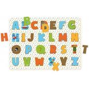 Encaje de madera infantil de letras