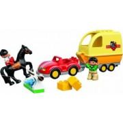 Set Constructie Lego Duplo Masina Cu Remorca Pentru Cai