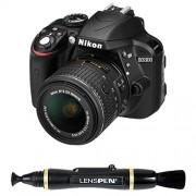 Nikon D3300 24.2MP Digital SLR Camera (Black) with 18-55mm VR II Lens Kit with 8GB Card and Camera Bag + Photron Stedy 450 Tripod + Lenspen NLP-1 Cleaning Brush (Black)