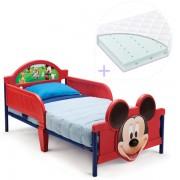 Pachet Patut Delta Children Disney Mickey Mouse 3D si Saltea Dreamily