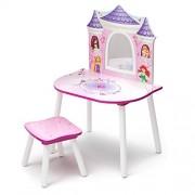Delta Children - Disney Principesse, Tavolo toeletta con sgabello, Rosa