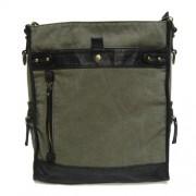 LICENCE 71195 Saxon Large Shoulder Bag Khaki LBF10654-KK