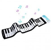 Oley Portable 49 Keys Silicone Flexible Roll Up Piano Foldable Keyboard Hand Rolling Piano With Battery Sustain Pedal