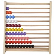 Skillofun Wooden Standard Abacus (1-10), Multi Color