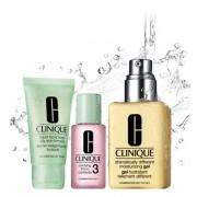 Clinique 3-steps Skin Type 3 Mydło w płynie 30ml + Płyn złuszczający 30ml + Emulsja nawilżająca 125ml