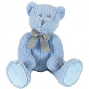 Stephan Baby Ultra-Soft Chenille Plush My First Teddy Bear Blue 14