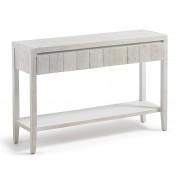 WOODY Consola colonial 120x78 madera pino blanco patinado