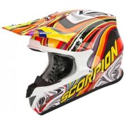 Scorpion VX-20 Air Sym Casco cruzado Rojo/Amarillo