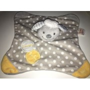 Doudou Mouton Doukidou Gris Pois Blancs Peluche Agneau Brebis Plat Lovely Baby Jouet Eveil Naissance Bébé Soft Toy Sheep Grey And White Plush