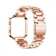 Preta / Rose / Dourada / Prateada Aço Inoxidável / Metal Fecho Clássico Para Fitbit Assistir 23 milímetros