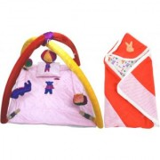 BABY BEDDING SET WITH MOSQUITO NET BABY WRAPPER (4001C2005)
