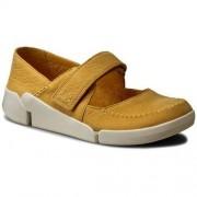 Clarks Półbuty CLARKS - Tri Amanda 261241694 Yellow Nubuck