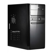 "CARCASA SPIRE ATX, front USB & audio, suport 2x 80mm fan, black, sursa 420W ""SP1078B-420W-E1"""