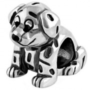 Dalmatian Puppy Dog Charm Bead - .925 Sterling Silver - fits Pandora Charm Bracelet