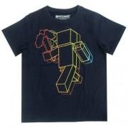 T-shirt Minecraft granatowy
