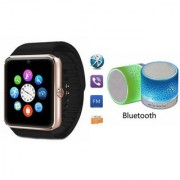 ZEMINI Music Mini Bluetooth Speaker(S10 Speaker) And GT08 Watch for HTC DESIRE 530