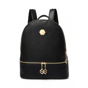 Zaful PU Leather Zips Solid Color Satchel