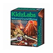 4M Kidz Labs Volcano and Crystal Mining Play Set