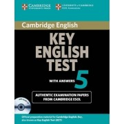 Cambridge Key English Test 5 Self Study Pack (Student's Book with Answers and Audio CD) by Cambridge ESOL