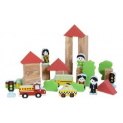 Edushape My Soft World - City Foam Block Construction Toy and Play Set