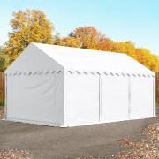 Intent24 3x6m tente de stockage, PVC anti-feu, H. 2m, blanc
