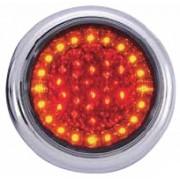 Lampa stop auto rotunda LED cu functii de Pozitie-Frana-Semnalizator 12/24V