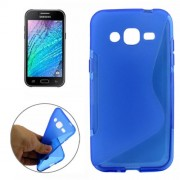 S Line Anti-slip Frosted TPU Protective Case for Samsung Galaxy J2 / J200(Blue)