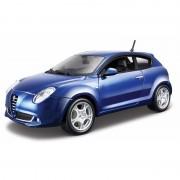 Schaalmodel blauwe Alfa Romeo Mito 2009