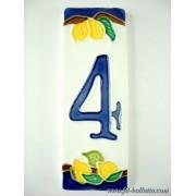 Numero civico ceramica con limoni nl4