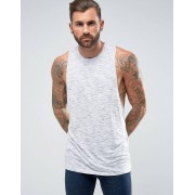 ASOS Sleeveless T-Shirt With Racer Back In Textured Fabric - Blue (Sizes: XL, 3XL, XS, XXS, M, L, 2XL, S)