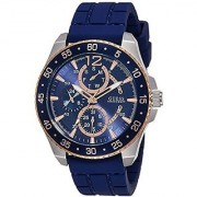 GUESS Blue Silicone Round Dial Quartz Watch For Men (W0798G2)