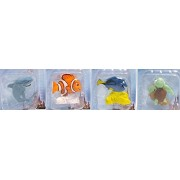 Bundle - 4 Items: Set of Disneys Finding Nemo Figurines Featuring Nemo, Dory, Squirt, and Bruce for