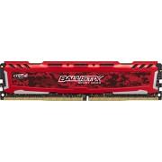 Ballistix Sport LT Memoria da 4 GB, DDR4, 2400 MT/s (PC4-19200), DIMM 288-Pin, Rosso - BLS4G4D240FSE